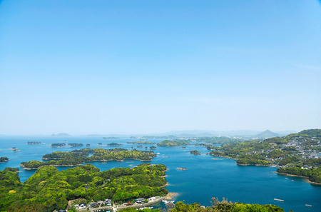 landscape Kujukushima island in Japan