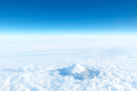 landscape of the clear sky with Mt. Fuji 版權商用圖片