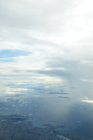 landscape of the cloudy sky