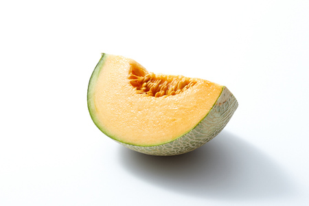 the melon on white
