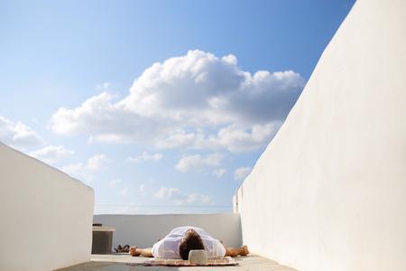 man meditating: man meditating