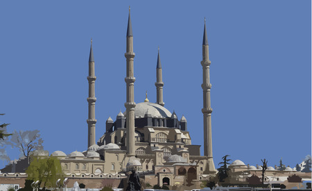 Selimiye Mosque, vector, a masterpiece of architecture, a model of style