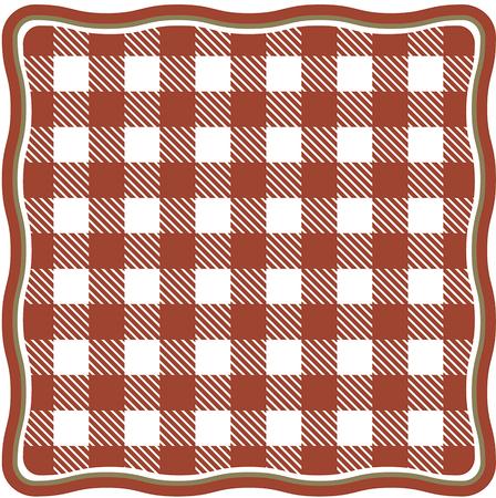 Tischdecke und Tartan Muster mit roten weißen Streifen und Quadraten Standard-Bild - 91786318
