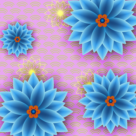 Beautiful floral trendy background with blue flowers cutting stock beautiful floral trendy background with blue flowers cutting paper japanese style cut paper stylish mightylinksfo