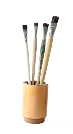 Paint brush set isolate on white Stock Photo - 16452436