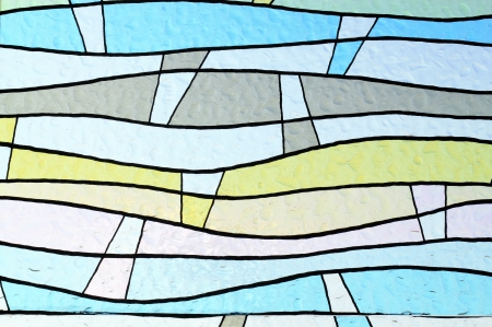 stained glass window: colorful window glass  Stock Photo