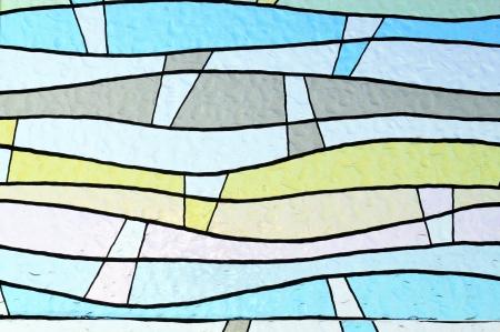 window panes: colorful window glass  Stock Photo