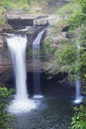 haew suwat waterfall in kao yai national park thailand  photo