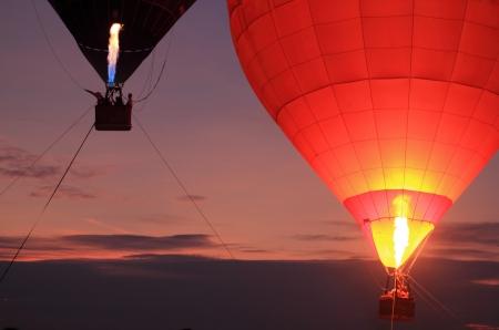 balloon with sunset  版權商用圖片