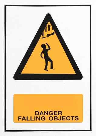 Danger falling objects sign photo