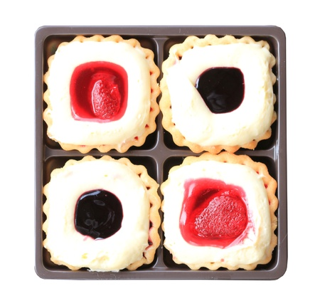 Strawberry and blueberry fancy gourmet fresh fruit dessert tarts Stock Photo - 20105763