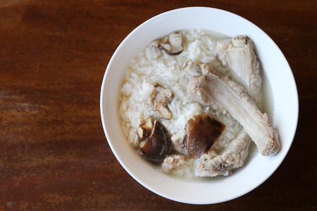 Pork bone in boil rice photo