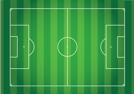 top view green grass line soccer vintage tone,football field Illustration