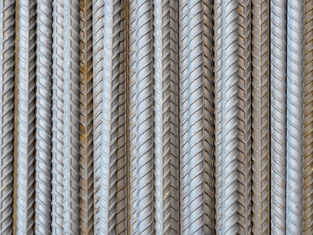 Deform bar steel rod.Construction material. Stock Photo