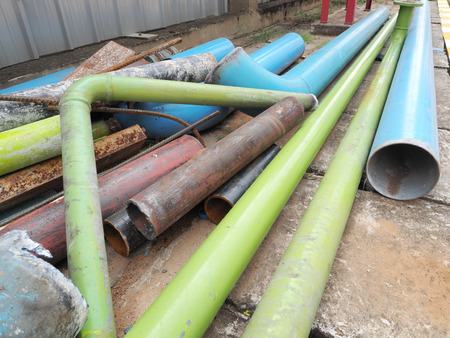 metal scrap: Pile of metal scrap,steel pipe scrap