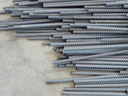 deform: Deform bar steel rod.Construction material. Stock Photo