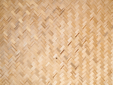 weaving: Brown bamboo weaving background. Close up.