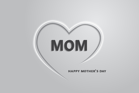 love mom: Love mom, happys mother day,vector.