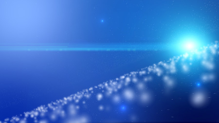 particle: Particle blue background and light ray. Stock Photo