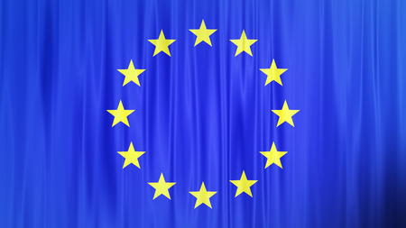 Waving colorful European Union flag
