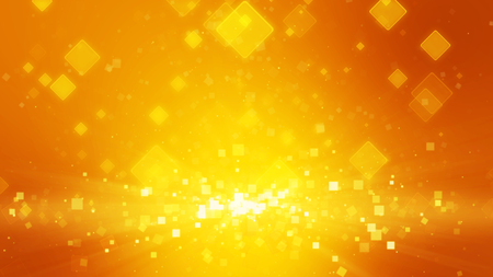 ray of light: Warm orange gold color background with squares. Light ray beam effect.