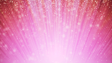 abstract pink swirl waves background golden particles in light beams. Stock Photo