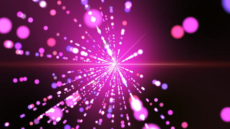 Pink background with explosion out into a colorful circle dots  lines beautifully. Stock Photo