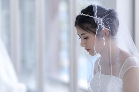 Femme asiatique, belle mariée