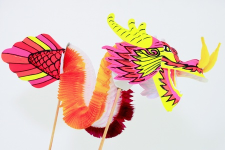 colorful dragon on white backgound Stock Photo - 12450600