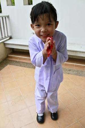 Thai children are respecting adults  Stock Photo - 14210447