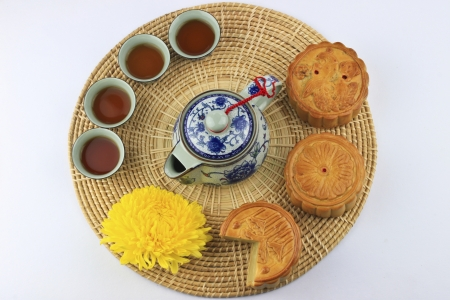 chinese food  for mid-autumn festival photo