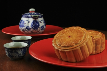 Moon Cake is the most popular in the mid-autumn photo