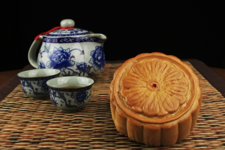 Traditional food eaten during the Mid-Autumn Festival photo