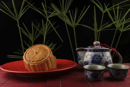 Moon Cake is the dessert for the Chinese Moon Festival photo
