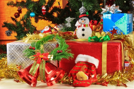 gifts for christmas and the decor beautiful Stock Photo - 15706076