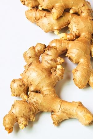 fresh ginger: fresh ginger on a white background