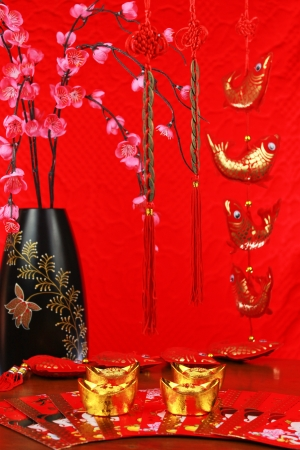 chinese new year decoration with a fish Stock Photo - 17546831
