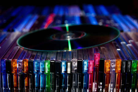 cds: colorful scene with cd from dj