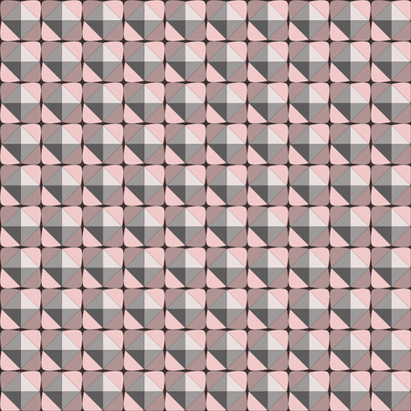 seamless abstract texture 3D pyramid with pastel pink shadow, for print textiles or design Illustration