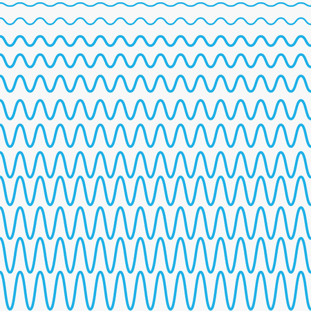sonic: set of blue waves with different amplitudes, the waves in vector design for design marine website