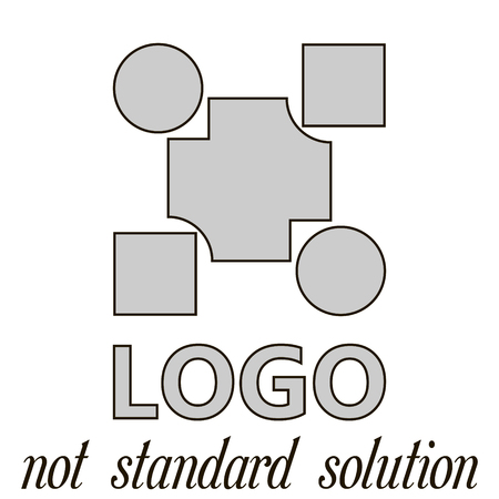 approach: logo is not a standard solution concept for a new approach to solving complex problems, vector illustration for print or website design
