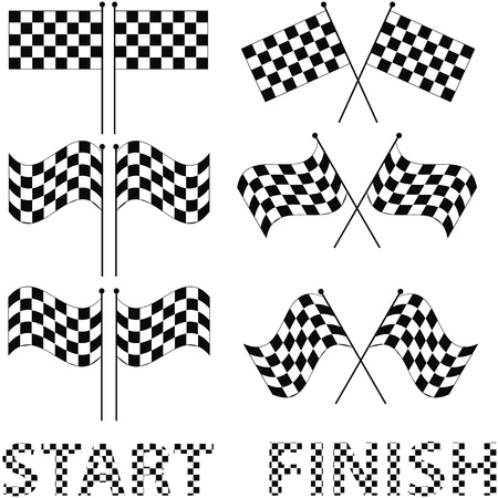 autosport: Checkered flags set for racing and autosport design