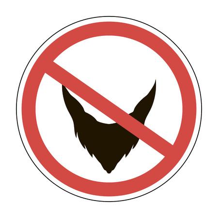 Signer la barbe est interdite, illustration vectorielle pour l'impression ou la conception