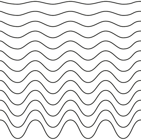 Set Of Waves The Zig Zag With Rounded Angles A Wavy Pattern Best Wavy Pattern