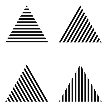Triangle Striped, stripes horizontally, vertically, diagonally, vector for print or design stripes horizontally, vertically, diagonally, vector for print or design