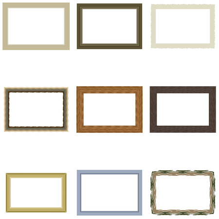 Set frame for pictures or photos, vector for print or website design