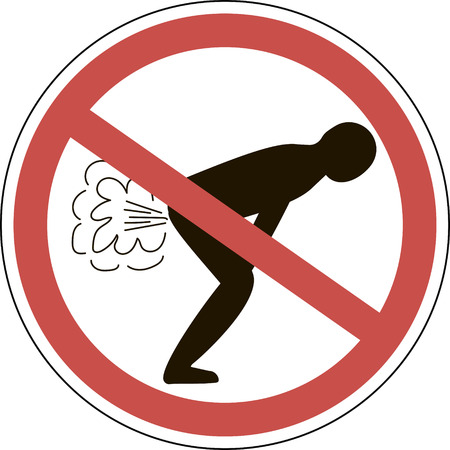 Do not fart red sign vector for print or design