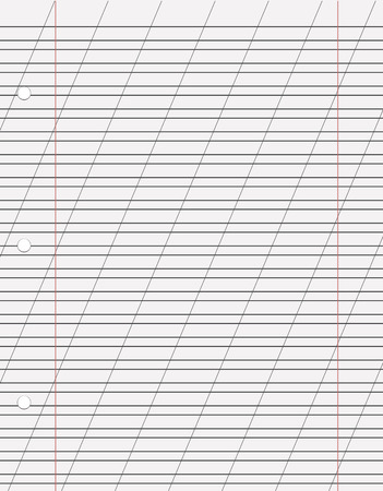 diagonal diary education: Vector sheet of paper with a diagonal line. Illustration
