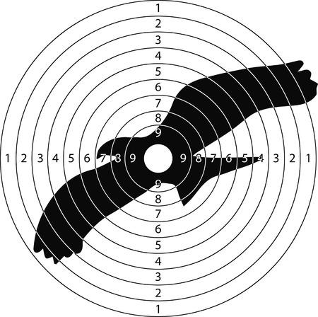 tiro al blanco pájaro grande para el campo de tiro de armas pequeñas hechas en el vector