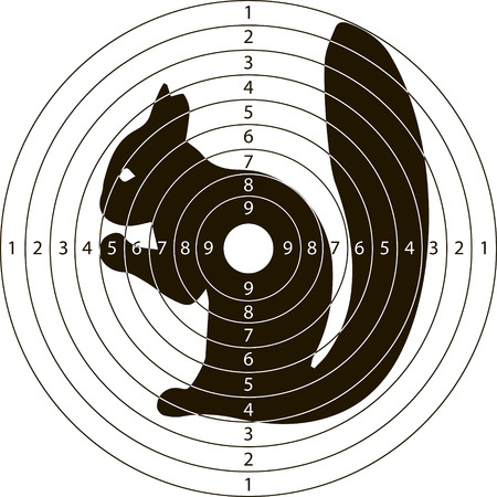 shooting target squirrel for the shooting range small arms made in the vector Illustration